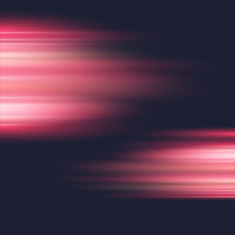 Bright lights red speed stripes