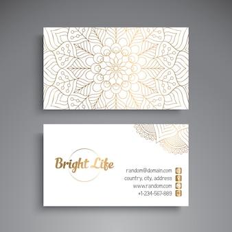 Bright luxury vintage business card