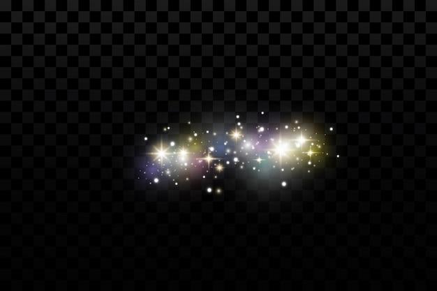 明るい魔法の粒子