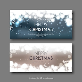 Bright merry christmas banners