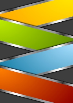 Bright metal abstract design background. vector illustration