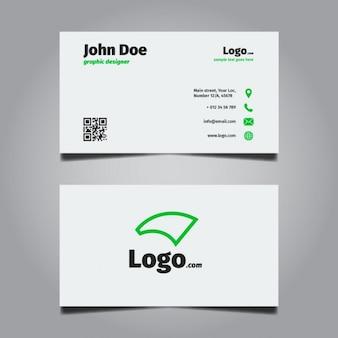 Bright minimal business card design