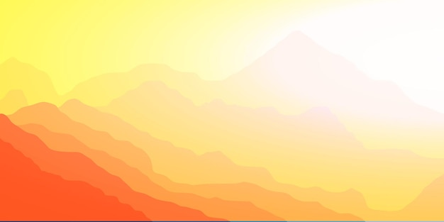 Яркое утро в горах