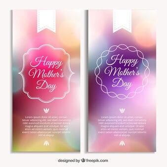 День баннеры яркие матери