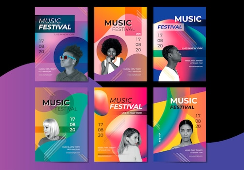 Bright music poster