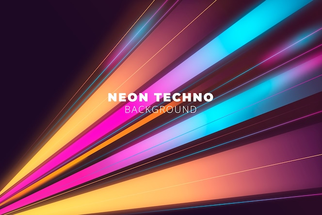Bright neon lights background