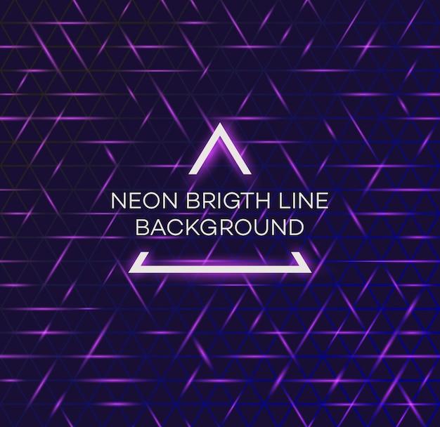 明るいネオン線抽象的な背景80年代レトロなヴィンテージの未来的なスタイル