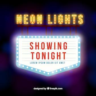 Bright neon sign in retro style