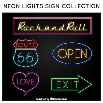 Bright neon signs