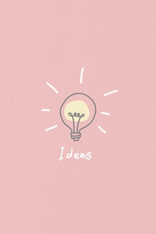 Bright new ideas doodle