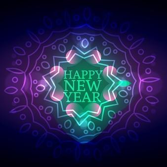 Bright new year background in mandala style