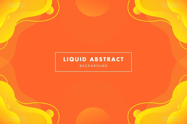 Bright orange abstract liquid flow for brochure flyer banner or presentation background template