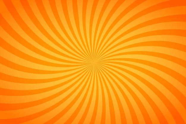 밝은 주황색과 노란색 줄무늬, 꼬인 배경
