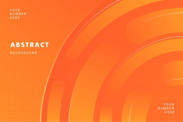 Bright orange circle pattern abstract background  for brochure flyer banner template