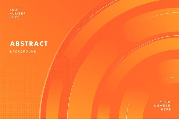 브로셔 전단지 배너 서식 파일에 대 한 밝은 주황색 원형 패턴 추상적인 배경