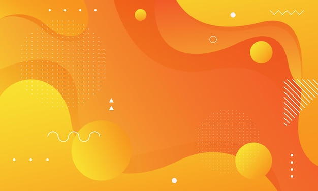 Bright orange elegant wavy background