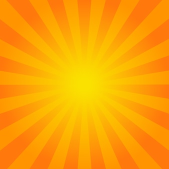 Bright orange rays background