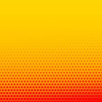 明るいオレンジの黄色の漫画のスタイルハーフトーンの背景