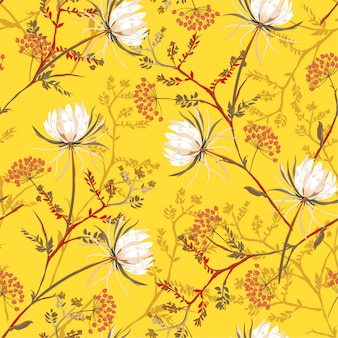 Bright oriental seamless pattern