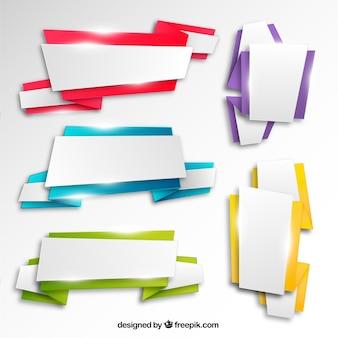 明るい折り紙バナー