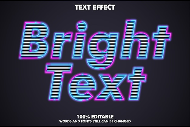 Bright outline text effect