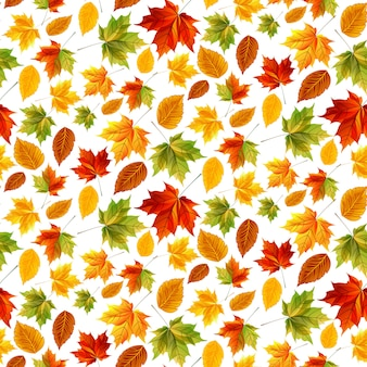 Bright pattern with leaves
