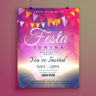 Bright pink festa junina poster