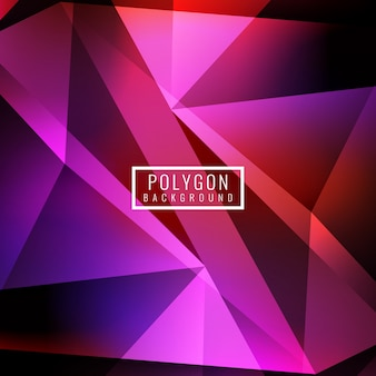 Bright pink polygonal background