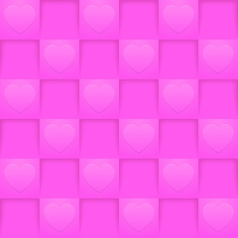 Bright pink squares seamless pattern. romantic wallpaper