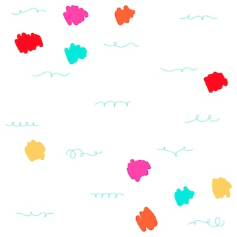 Bright playfully patterned background