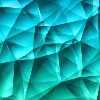Bright polygonal turquoise background