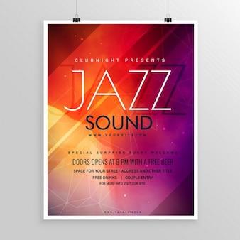 ジャズフェスティバルのための明るいポスター