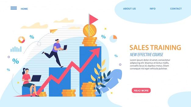 Яркий плакат продаж тренинг новый эффективный курс.