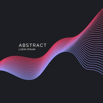 Bright poster with dynamic waves.  illustration minimal  style