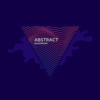Яркий плакат с динамическими волнами. векторная иллюстрация минимальный плоский стиль