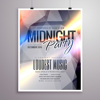 Bright poster with geometric shapes for a party at the disco