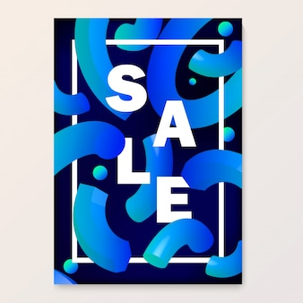 Bright poster for your sales discounts and promotions.