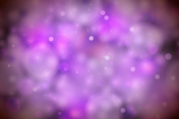 Bright purple magic lights in the dark, abstract bokeh background