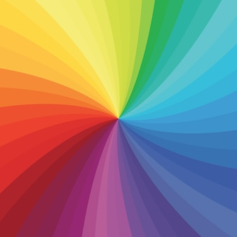Bright rainbow swirl background.