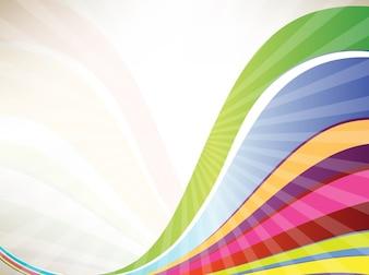 Bright rainbow waves vector