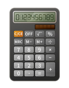 Bright realistic calculator