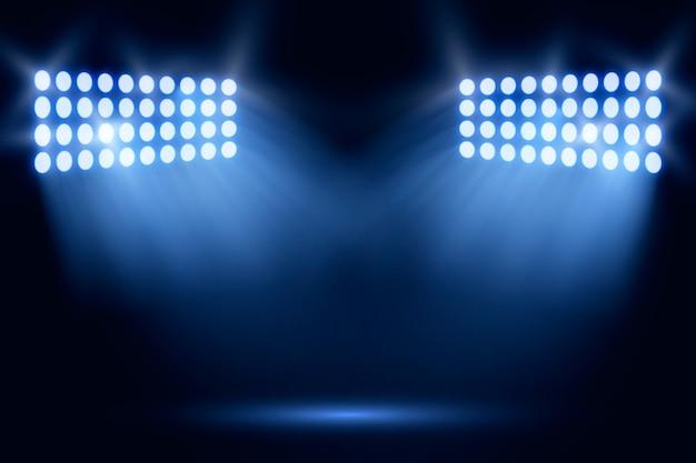 Bright realistic stadium lights