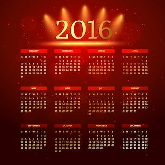 Bright red calendar