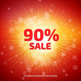 Bright red and orange sale banner