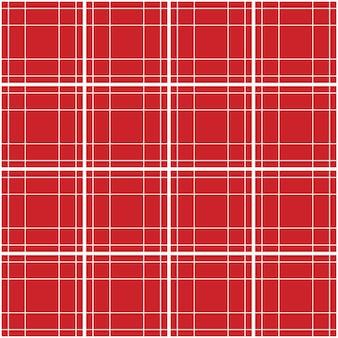 Bright red tartan seamless pattern