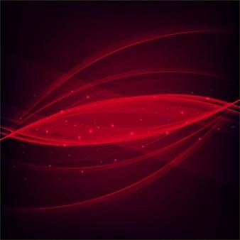 ライトが付いている明るい赤い波線の背景