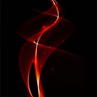 黒地に鮮やかな赤い波線