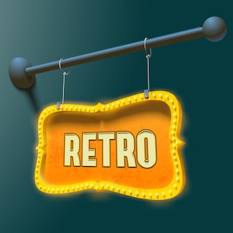 Bright retro signboard