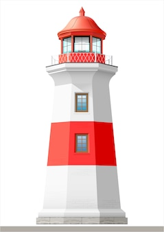 Bright sea lighthouse