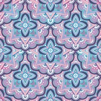 밝은 원활한 페이 즐리 패턴.